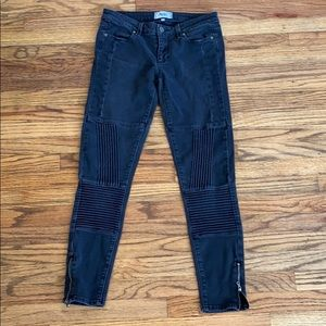 Paige Motto Jeggings motorcycle stretchy Jeans